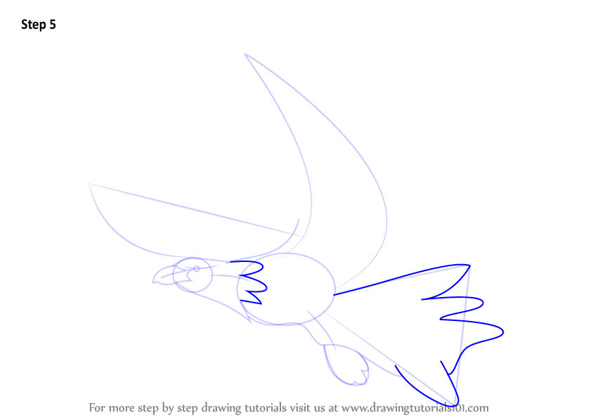 how to draw a eagle step by step