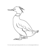 How to Draw a Red-Breasted Merganser