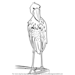 How to Draw a Shoebill