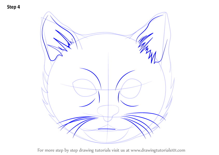 Learn How to Draw a Cat Face (Cats) Step by Step : Drawing ...