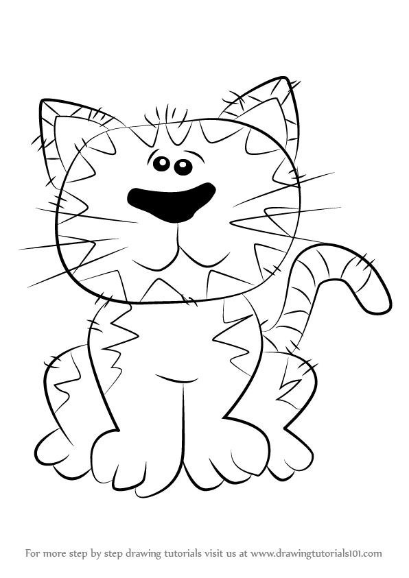 How To Draw Cat For Kid