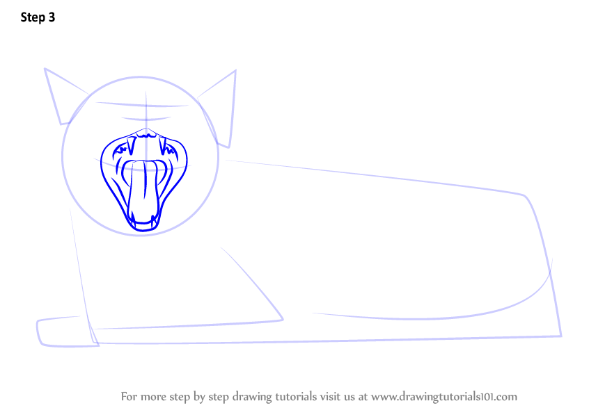 Learn How to Draw Yawning Cat (Cats) Step by Step ...
