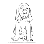 How to Draw a Bloodhound Puppy