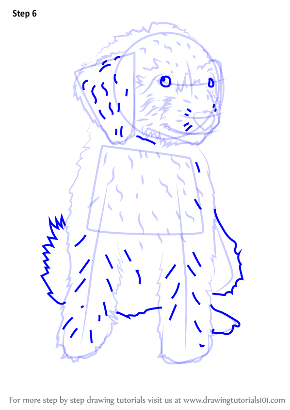Learn How To Draw A Mini Goldendoodle Dogs Step By Step