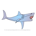 How to Draw The Meg aka Megalodon