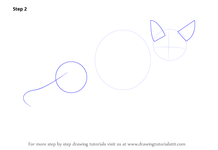 how to draw cat ears on cat