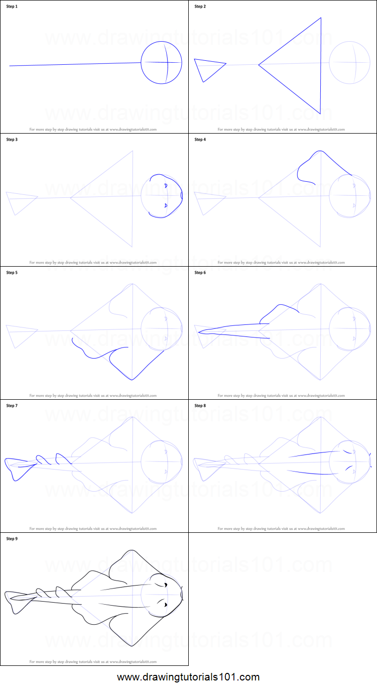 how to draw an angel shark printable step by step drawing sheet Sliding Door Gate step by step drawing tutorial on how to draw an angel shark