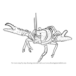 How to Draw a Lamington Spiny Crayfish