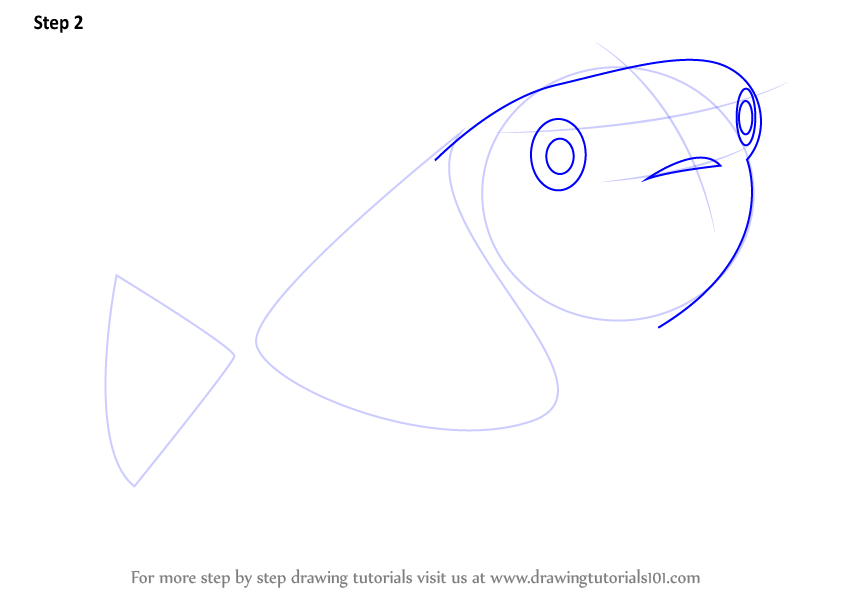 how to draw fish scales on face