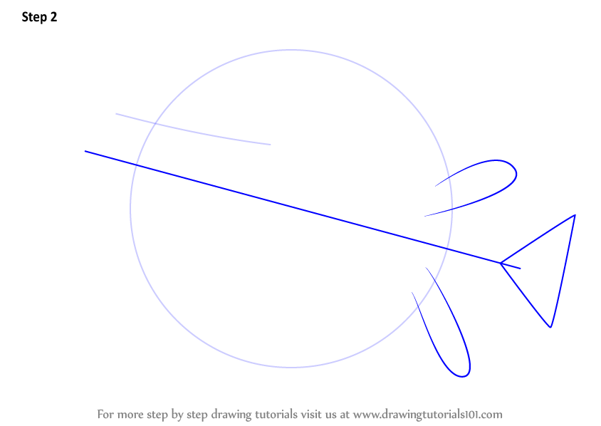 draw outline for tail & fins  also draw a straight line in the middle of  the body