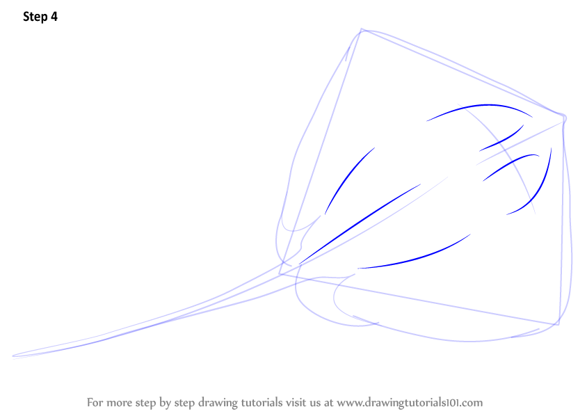 Learn how to draw a stingray fishes step by step for How to make doodle art