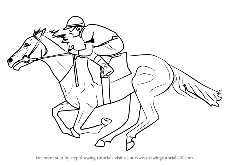 easy cartoon horses