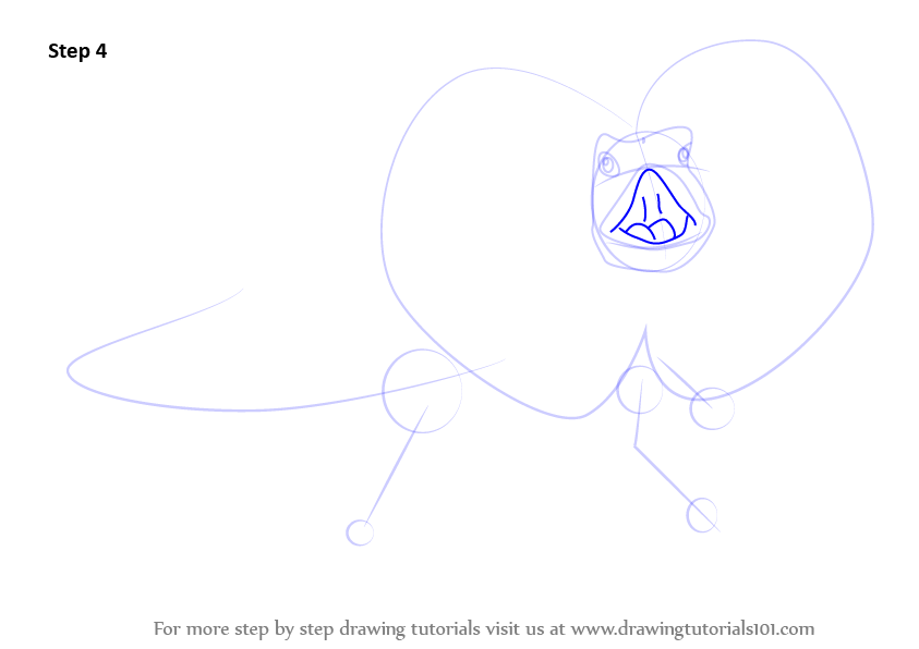 how to draw a lizrd body