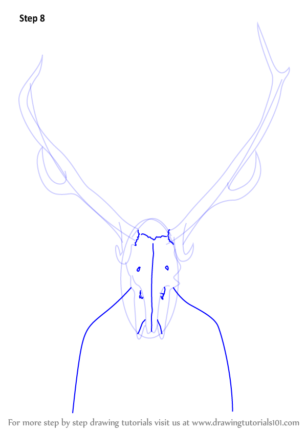 how to draw a step by step deer