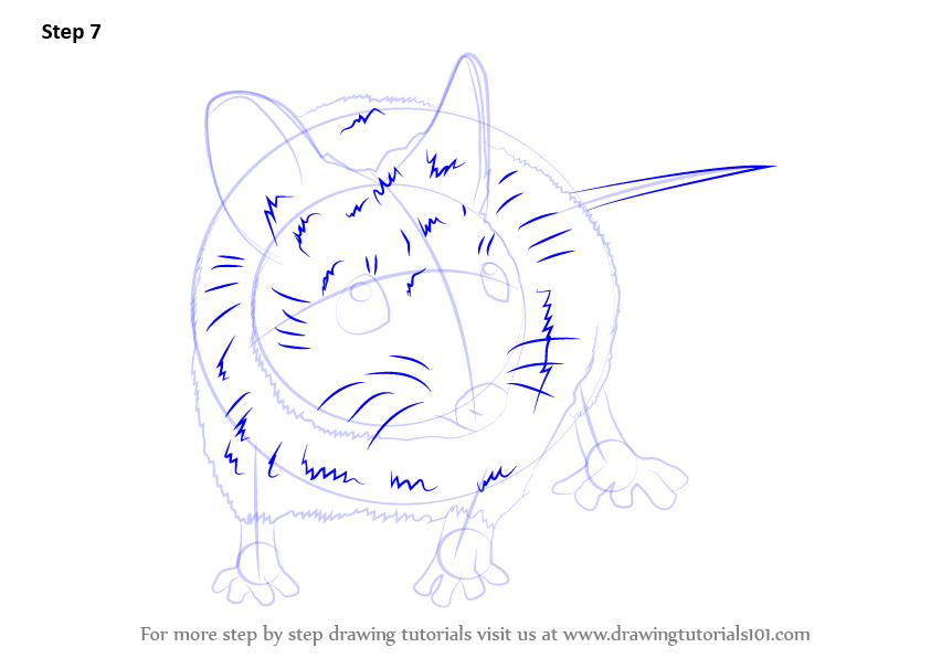 learn how to draw a wood mouse  rodents  step by step