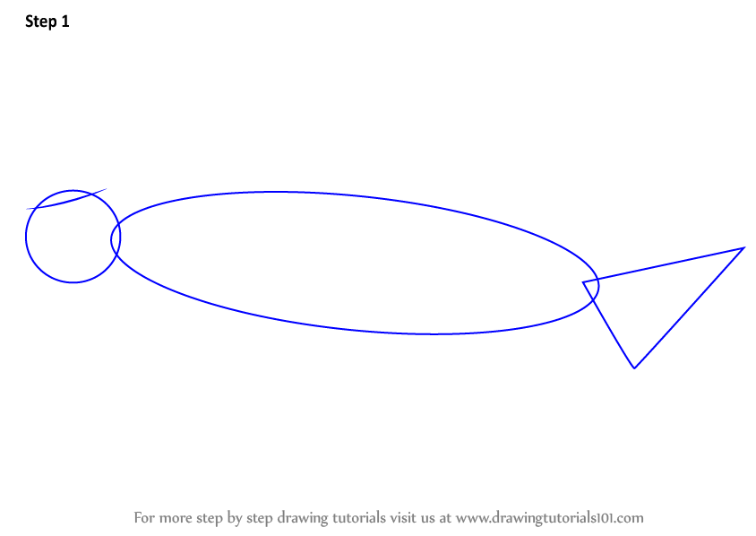 how to draw a dugong step by step