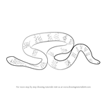 How to Draw a Leaf-Scaled Sea Snake