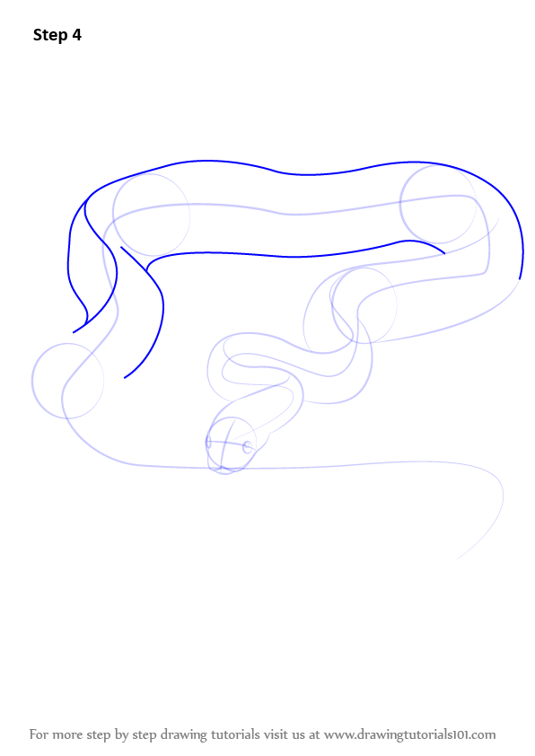Drawing Lines With Python : Learn how to draw a sand python snakes step by