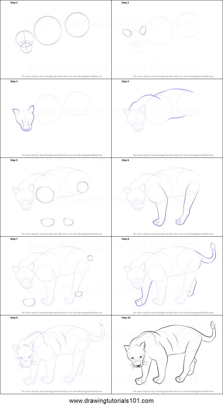 how to draw a black panther printable step by step drawing sheet drawingtutorials101com