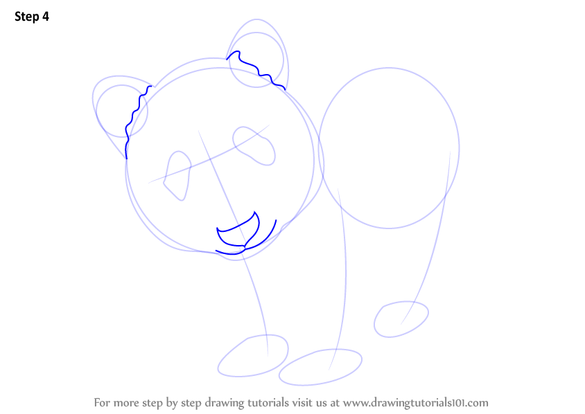 step by step how to draw a panda
