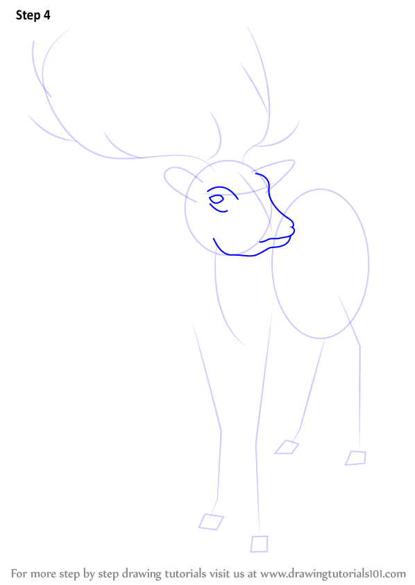 how to draw a reindeer face