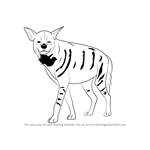 How to Draw a Striped Hyena