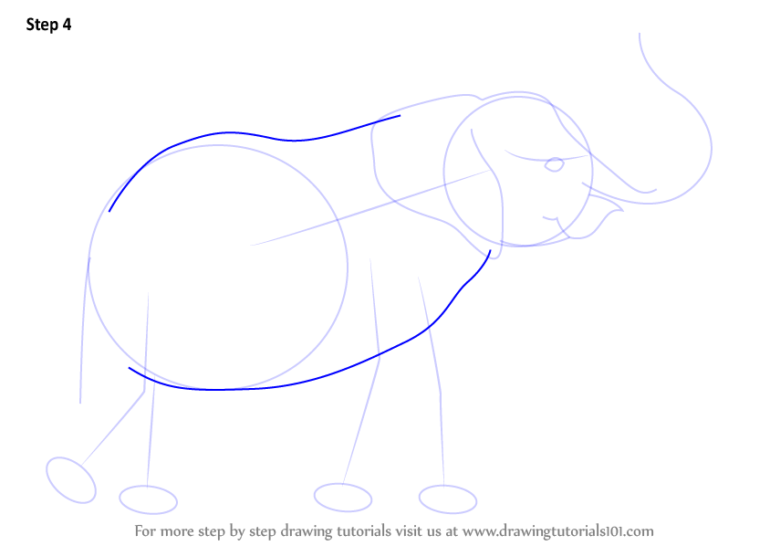 how to draw an elephant face step by step