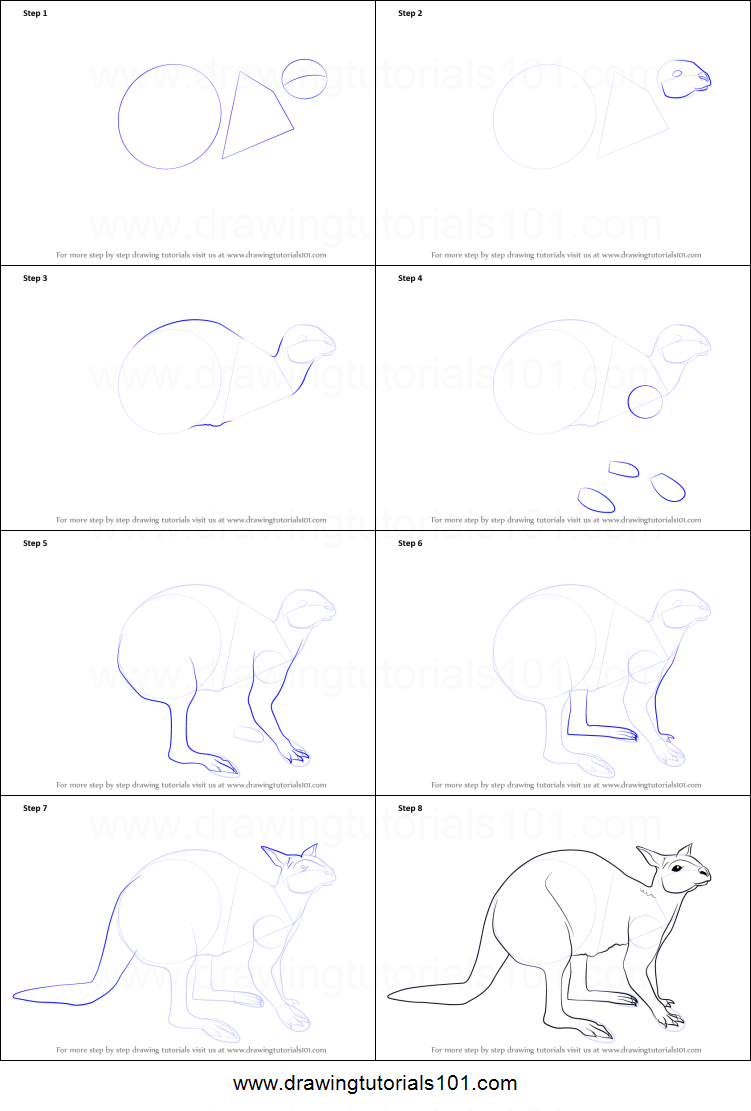 Uncategorized How To Draw A Kangaroo Step By Step how to draw a kangaroo sitting printable step by drawing sheet drawingtutorials101 com