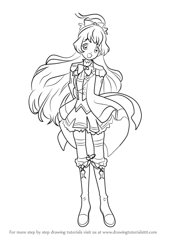 learn how to draw hime shiratori from aikatsu stars