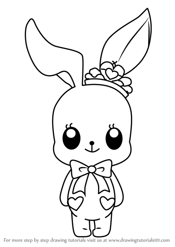 How to draw little bunny from aikatsu stars