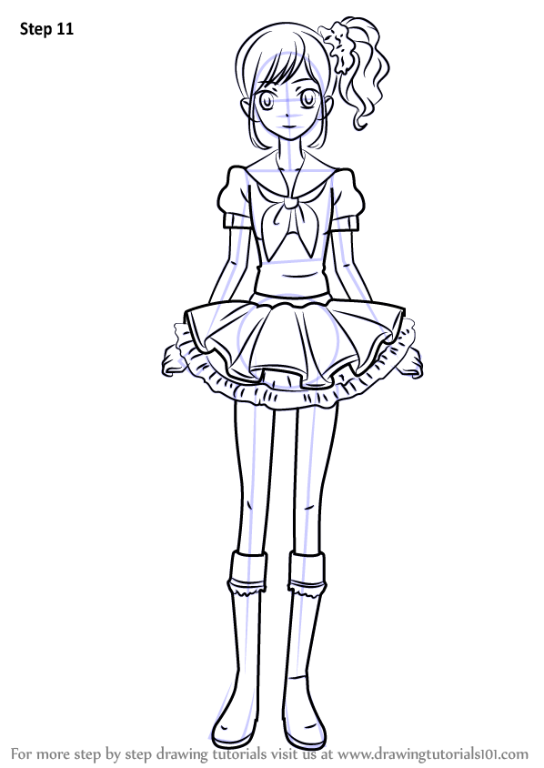 learn how to draw aoi kiriya from aikatsu   aikatsu   step