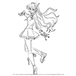How to Draw Chelsea from Akame ga Kill!
