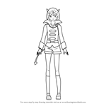 How to Draw Nyau from Akame Ga Kill