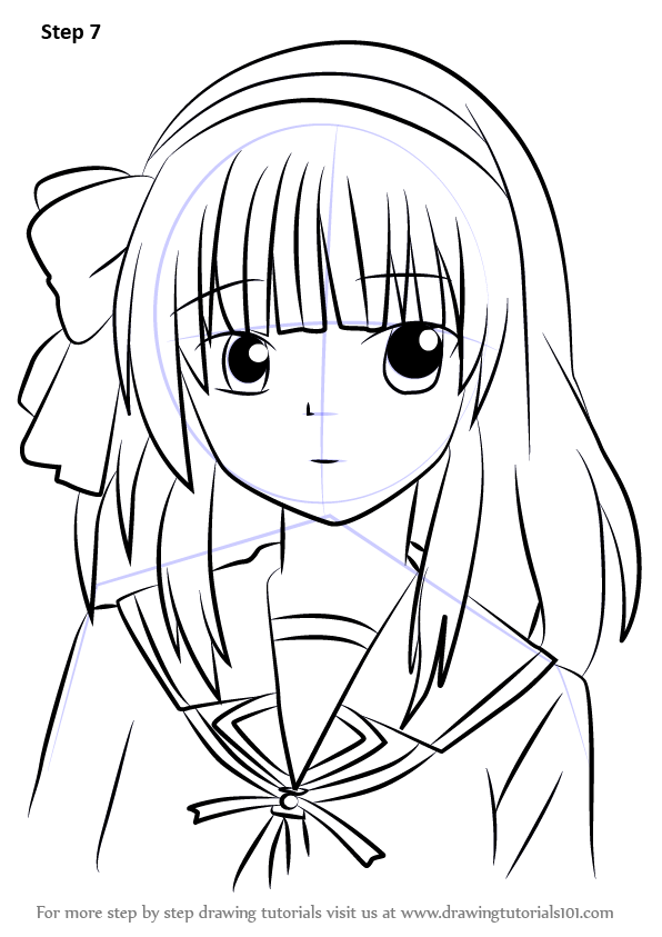 learn how to draw yuri nakamura from angel beats   angel beats   step by step   drawing tutorials