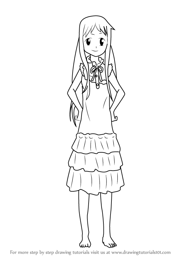 Step By Step How To Draw Menma From Anohana
