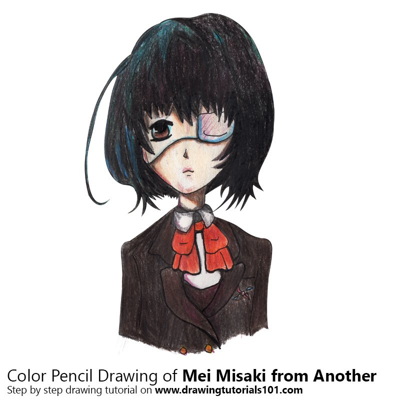 Mei Misaki from Another Color Pencil Drawing