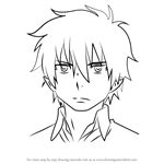 How to Draw Rin Okumura from Ao No Exorcist