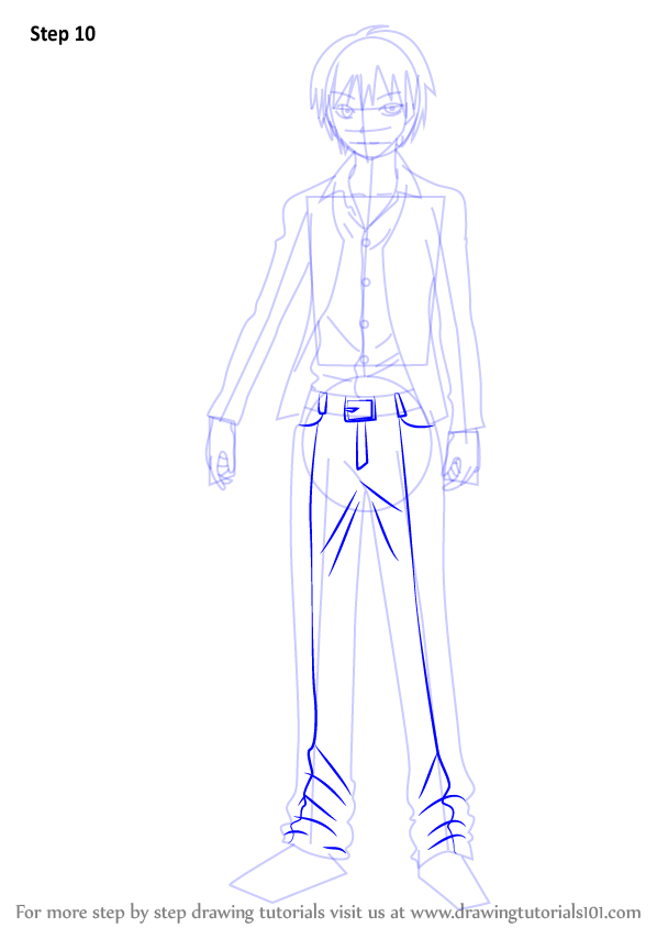 learn how to draw karma akabane from assassination
