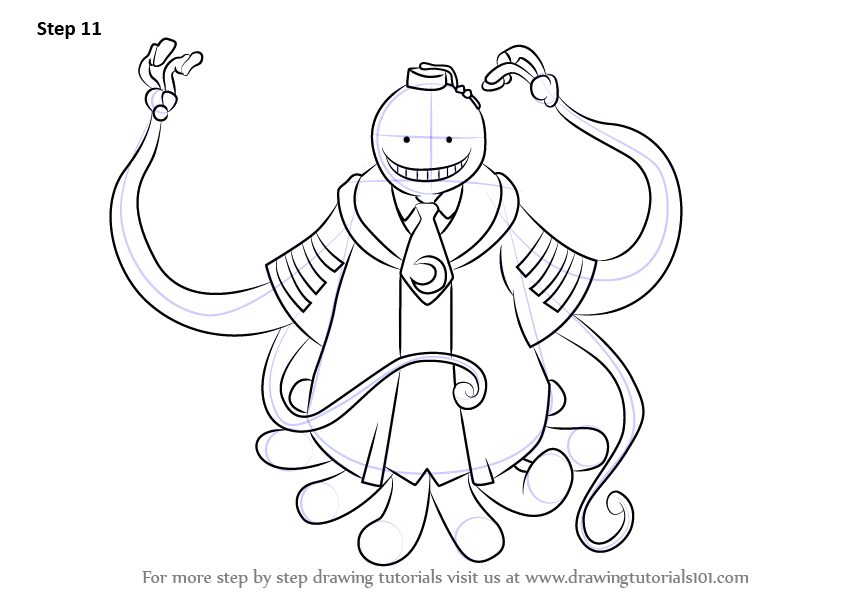 Learn How to Draw Koro-Sensei from Assassination Classroom