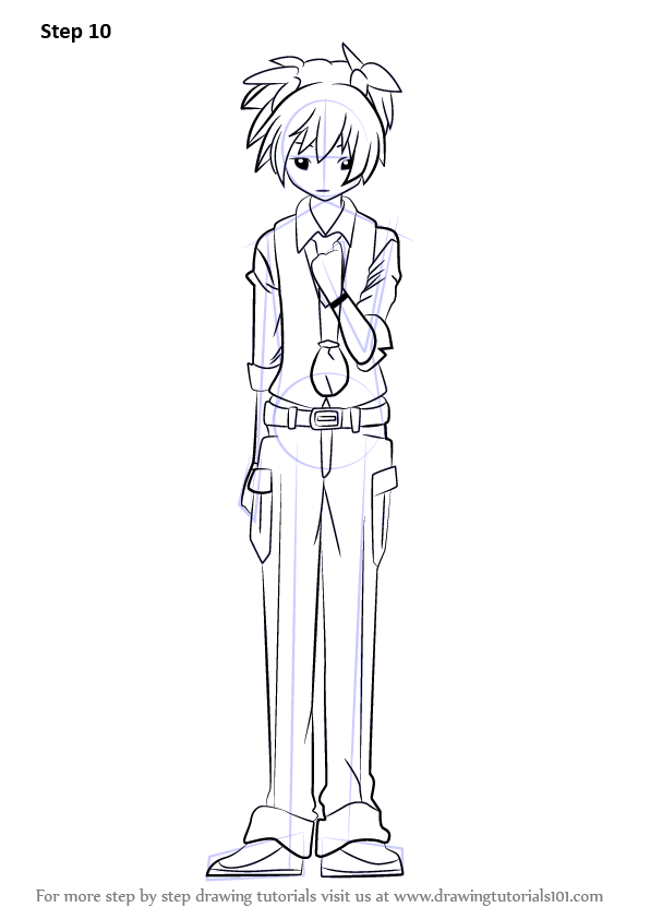 Learn How To Draw Nagisa Shiota From Assassination