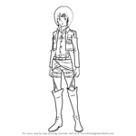 How to Draw Armin Arlert from Attack on Titan
