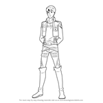 How to Draw Bertolt Hoover from Attack on Titan