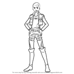 How to Draw Connie Springer from Attack on Titan