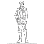 How to Draw Jean Kirstein from Attack on Titan