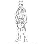 How to Draw Levi from Attack on Titan