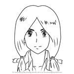 How to Draw Mina Carolina from Attack on Titan