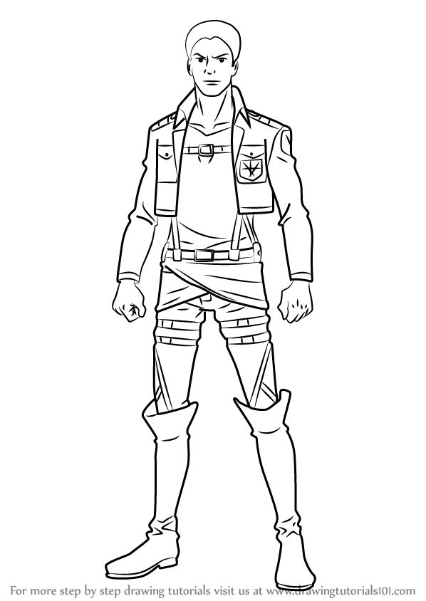Learn How To Draw Reiner Braun From Attack On Titan Attack