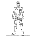 How to Draw Reiner Braun from Attack on Titan