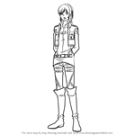 How to Draw Sasha Blouse from Attack on Titan