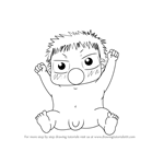 How to Draw Baby Beel from Beelzebub